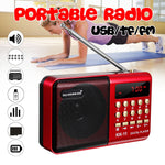 Mini Portable Radio Handheld Digital FM USB TF MP3 PlaySpeaker Recharer geable - techessentialstoday