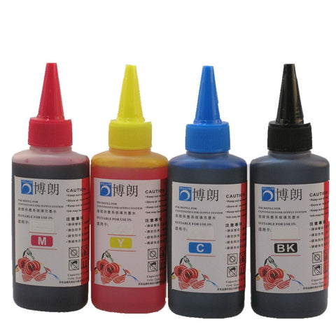 400ML Universal Refill Ink kit for Epson Printer Dye Ink tank  all model  4 color CISS  Cartridge each bottle 100ml - techessentialstoday