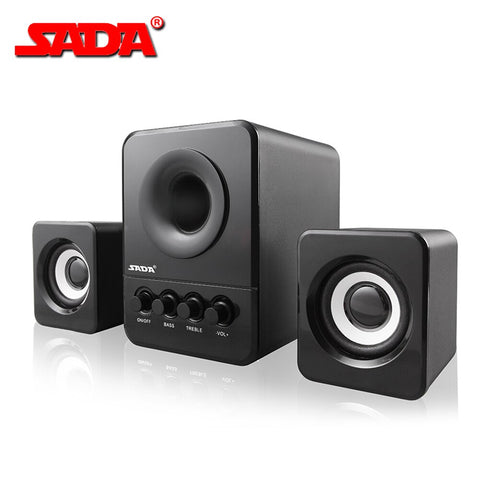 D-203 USB Wired Combination Speaker Computer Speaker Bass - techessentialstoday