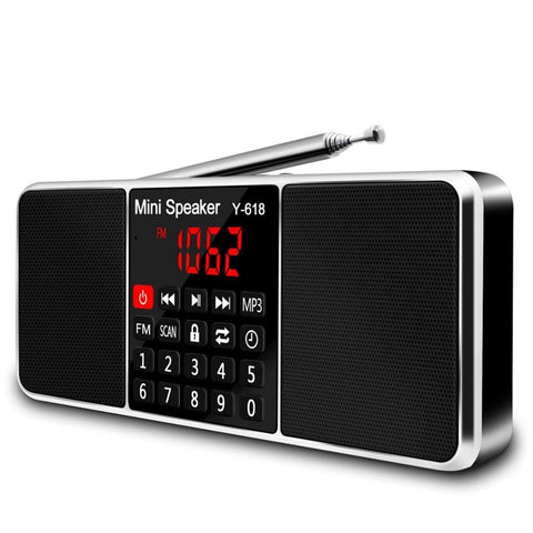 Multifunction Digital Fm Radio Media Speaker Mp3 Music Player Support Tf Card Usb Drive With Led Screen Display And Timer Func - techessentialstoday