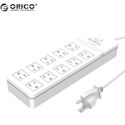 ORICO SPT 6AC 8AC 10AC Port Surge Protection Power Strip US Plug Extension Socket  For Home and Office AC Socket 1.5M Power Cord - techessentialstoday