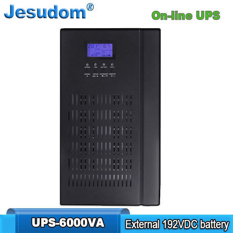 6KVA Uninterruptible Power Supply External 192V DC Batteries Bank to 220AC 50HZ Pure Sine Wave Online UPS