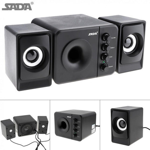 D-205 USB2.0 Subwoofer Computer Speaker with 3.5mm Audio Plug and USB Power Plug for Desktop PC / Laptop / MP3 / Cellphone / MP4