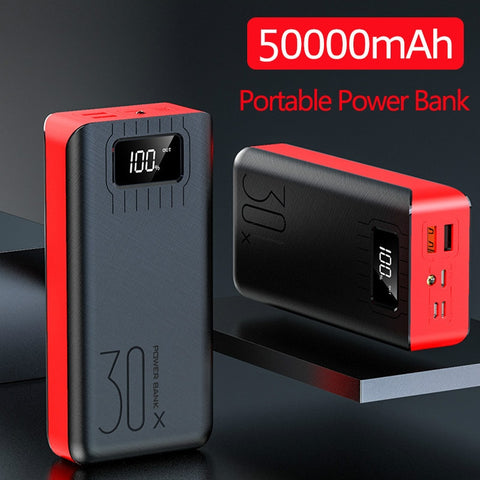 50000mah Power Bank Portable External Charger Fast Charging