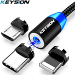 KEYSION LED Magnetic USB Cable Fast Charging Type C Cable Magnet Charger Data Charge Micro USB Cable Mobile Phone Cable USB Cord - techessentialstoday