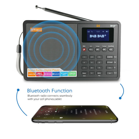 GTMEDIA D1 Portable Digital Radio FM stereo/ - techessentialstoday