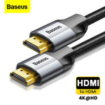 Baseus HDMI Cable 4K Male to Male HDMI 2.0 Cable For PS4 Projector TV Audio Video HDMI Wire Cord Digital Splitter Switch 5m 3m - techessentialstoday