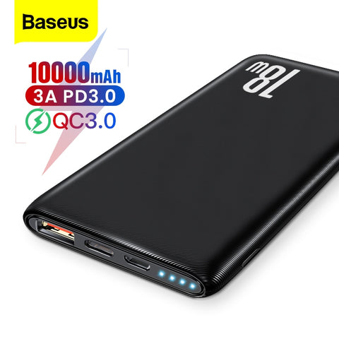 Baseus Quick Charge 3.0 10000mAh Power Bank USB Type C PD 10000