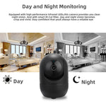 1080P Wireless IP Camera Cloud Wifi Camera Smart Auto Tracking Human Home Security Surveillance CCTV Network indoor black IP cam - techessentialstoday