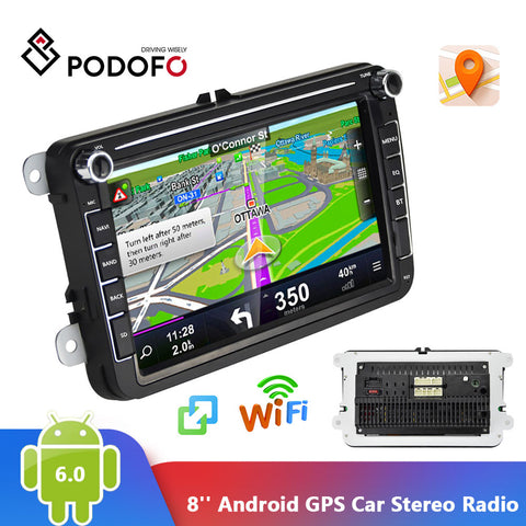 Podofo 2 Din Car Radio GPS - techessentialstoday