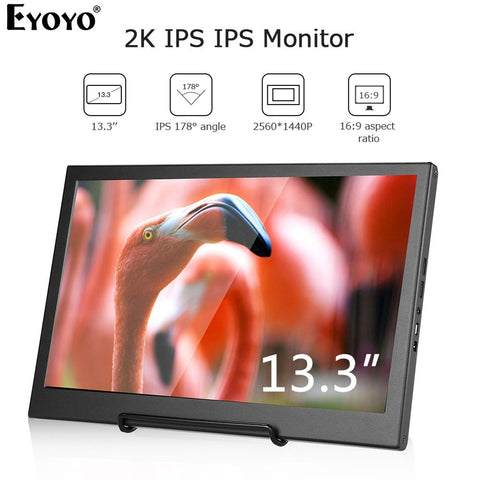 "Eyoyo EM13H 13.3"" QHD 2560X1440 2K IPS Portable - techessentialstoday"