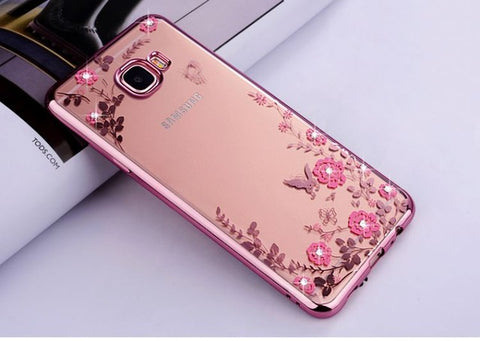 Case For Samsung Galaxy A3 A5 A7   3 5 7 Duos A300 A310 A320 Cell Phone Cover Silicone Ultra thin Glitter - techessentialstoday