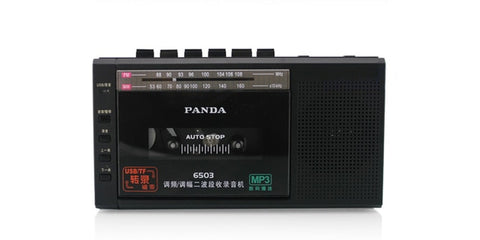 Panda 6503 Radio USB / TF Transcription Tape Recorder , - techessentialstoday
