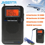 JINSERTA Aircraft Full Band Radio VHF Receiver Portable Radio - techessentialstoday