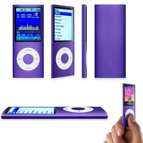 1,8 inch mp3 player 16GB 32GB Musik spielen mit fm radio video player E-book-player MP3 mit eingebauten speicher