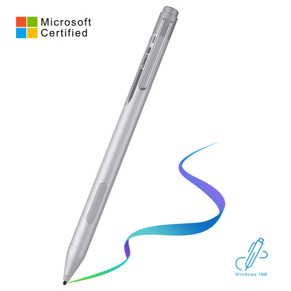 Silver M ,surface pen- for ( MICROSOFT、ASUS、DELL、HP、Acer ) Dry & long life battery - Digital touch pen
