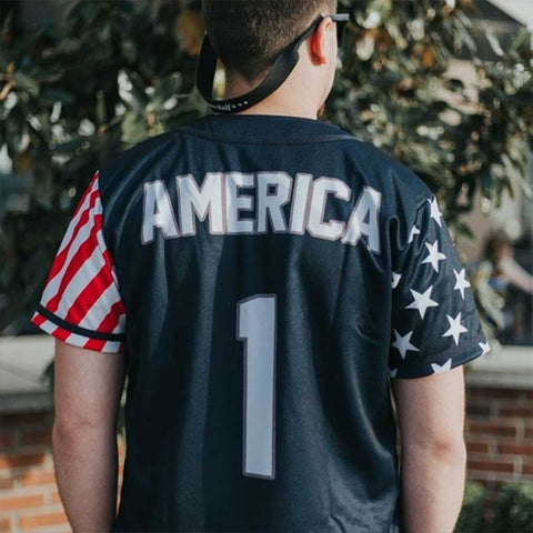 Image of USA Freedom™ Jersey - America #1 - Navy (Small-5XL)