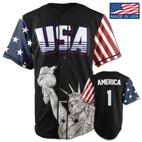 USA Freedom™ Jersey - America #1 - Black (Small-5XL)