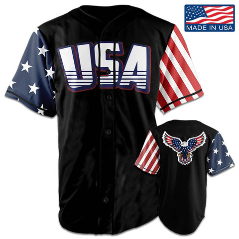 Image of USA National™ Jersey - American Eagle - Black (Small-5XL)