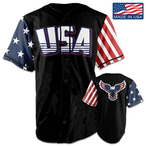 USA National™ Jersey - American Eagle - Black (Small-5XL)