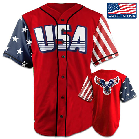 Image of USA National™ Jersey - American Eagle - Red (Small-5XL)