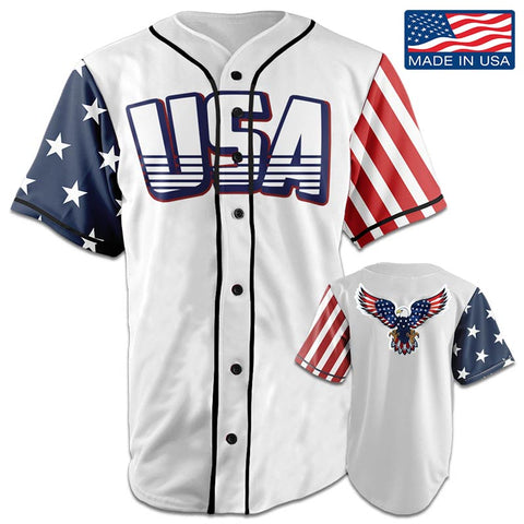 Image of USA National™ Jersey - American Eagle - White (Small-5XL)