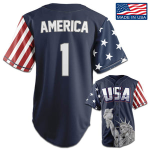 USA Freedom™ Jersey - America #1 - Navy (Small-5XL)