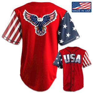 USA National™ Jersey - American Eagle - Red (Small-5XL)