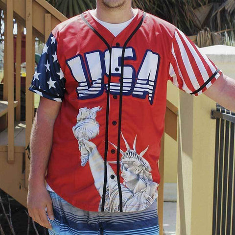 Image of USA Freedom™ Jersey - America #1 - Red (Small-5XL)