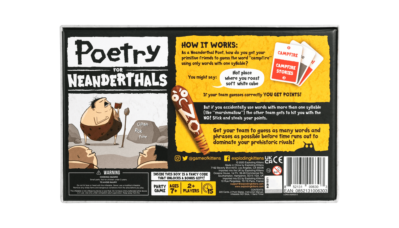 Poetry for Neanderthals