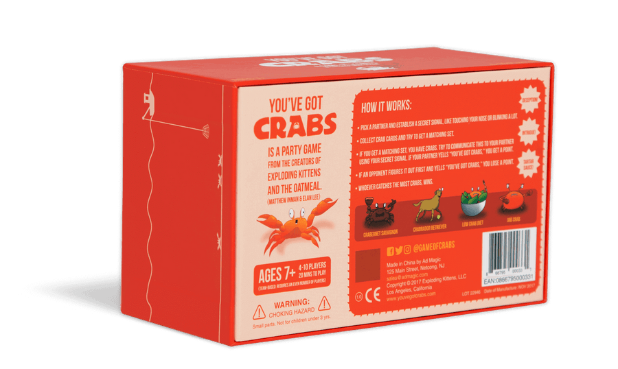 You've Got Crabs Party Game Box Back
