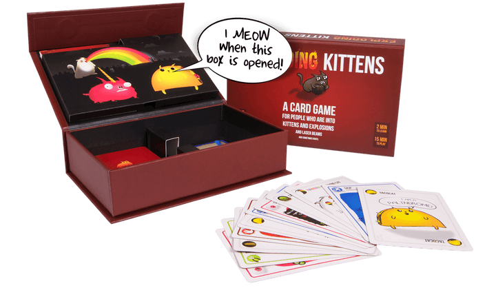 Exploding Kittens First Edition Box and Cards