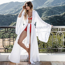 Load image into Gallery viewer, 2019 New Solid Robes Women Black Red Long Sleeve Nightgown Ladies Girls Silk Satin Smooth Spring Lace Sleepwear Female Bathrobe