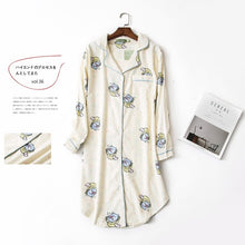 Load image into Gallery viewer, Plus size Fashion Winter night dress women nightgowns sleepwear women sleepshirts 100% brushed cotton Fresh Women nightwear