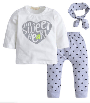 Girls Sweet Heart 3-Piece Set