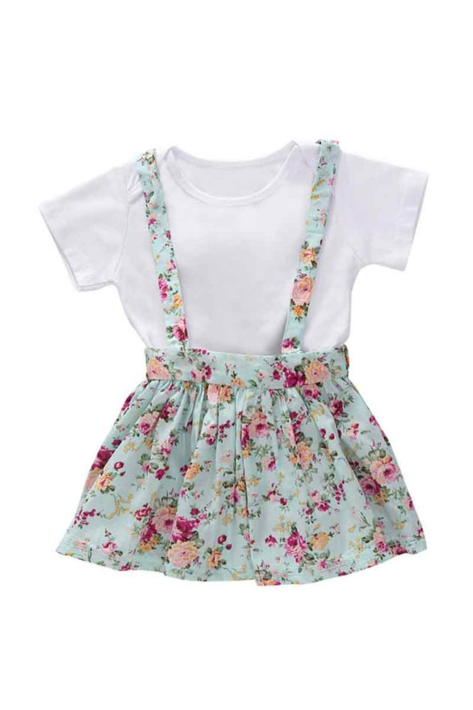 Girls Bodysuit and Floral Skirtall Set