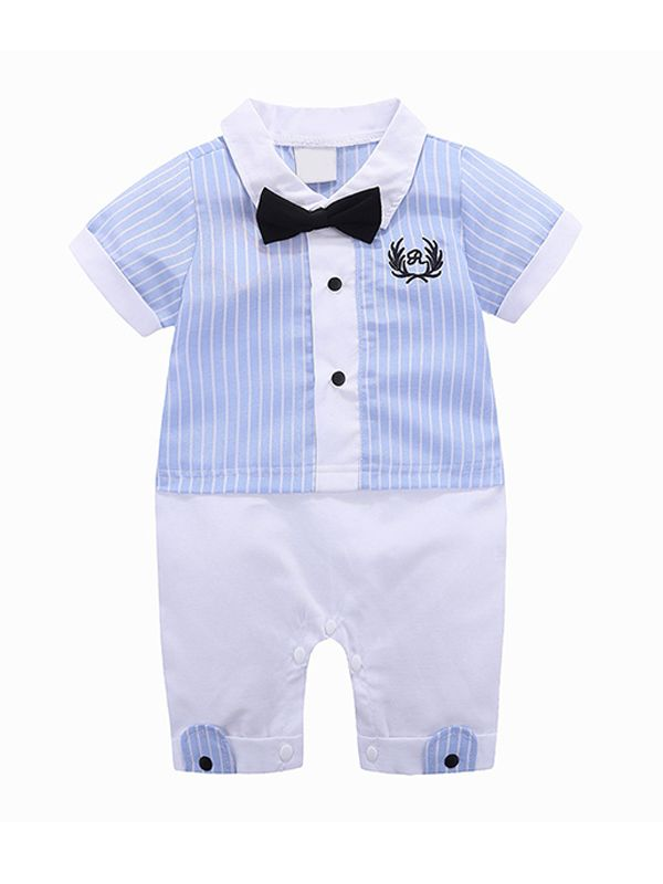 Boys Bowtie & Pinstripes Bodysuit
