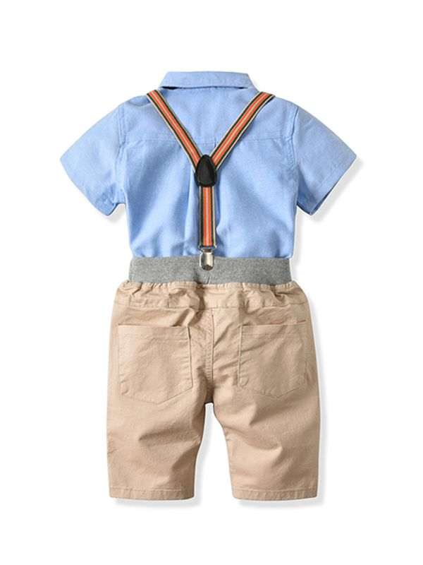 Boys Bowtie & Suspenders Set