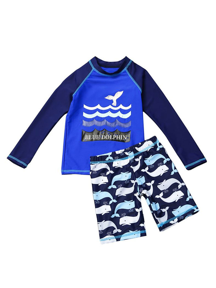 Boys Dolphin & Whale Swimsuit Set