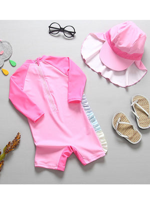 Girls Magical Unicorn Swimsuit Set