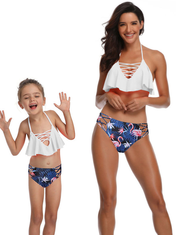 Flamingo Mommy and Me Swim Sets