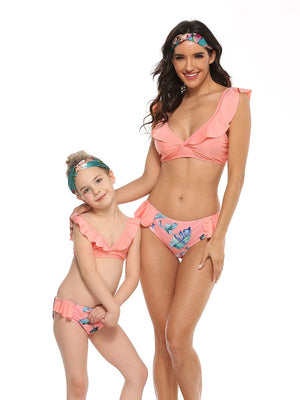 Tropical Leaves Mommy and Me Swim Sets