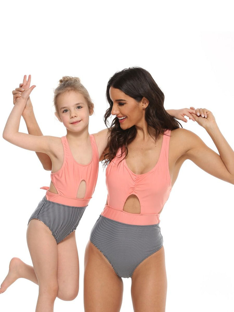 Striped Mommy and Me Swim Sets