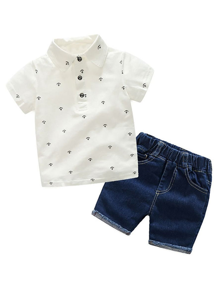 Boys Anchor 2-Piece Set