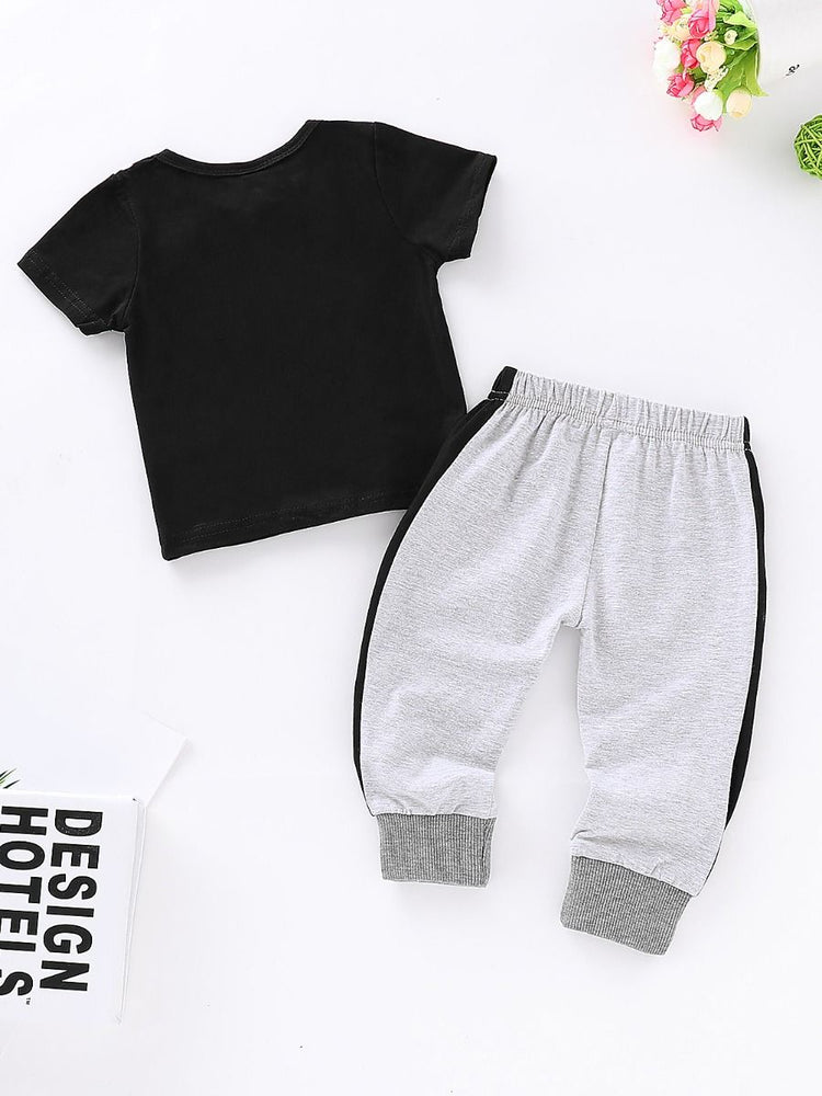 Boys Mini Boss Tee and Jogger 2-Piece Set