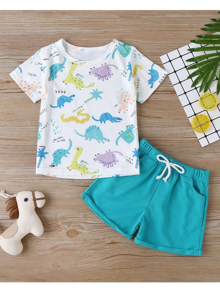 Boys Friendly Dinos 2-Piece Set