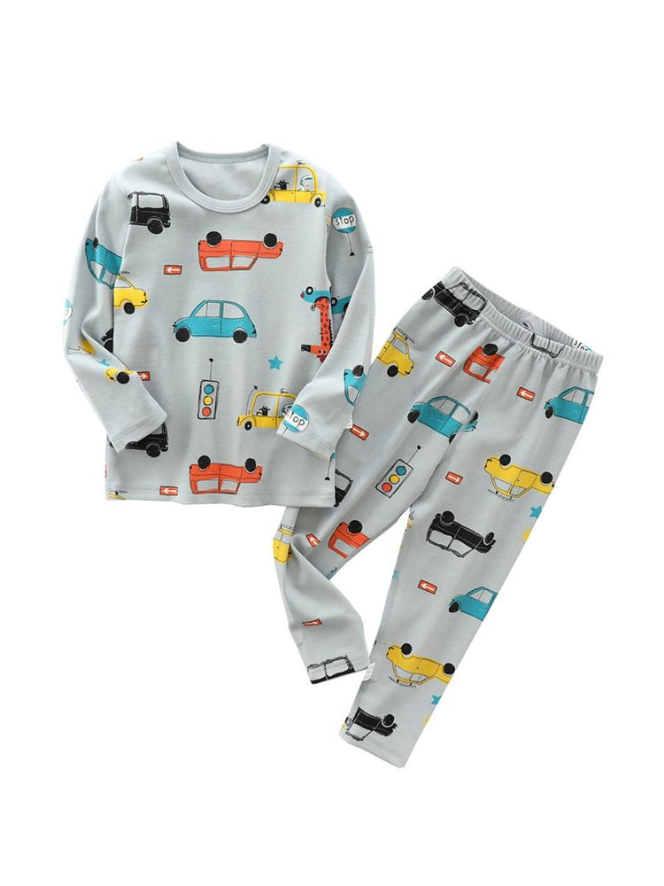 Cars in Traffic Pajama Set