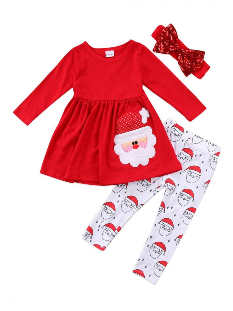 Girls Santa Claus 3-Piece Set