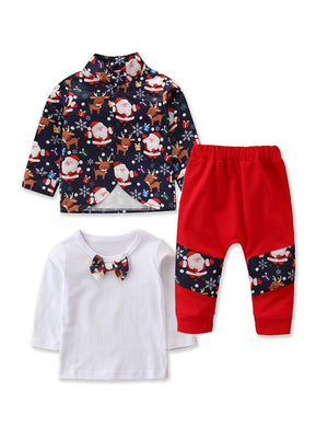 Boys Santa & Rudolph 3-Piece Set
