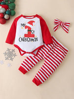 Girls My First Christmas Bodysuit Pant Set